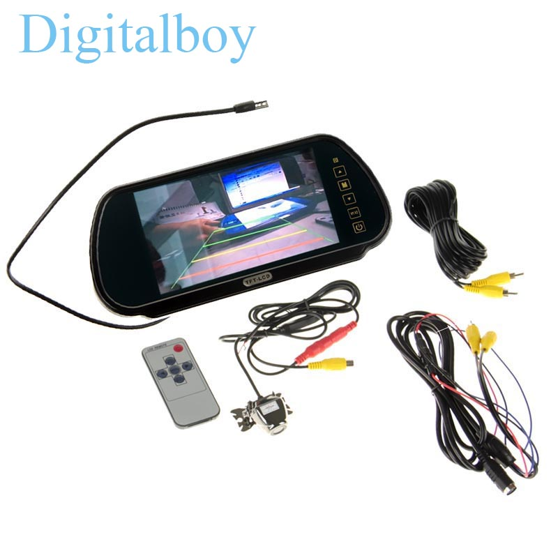New 7 inch TFT-LCD Car Rear View Mirror Monitor Touch Screen Monitor With Waterproof 170 Degree Wide Angle Car Rear View Camera()