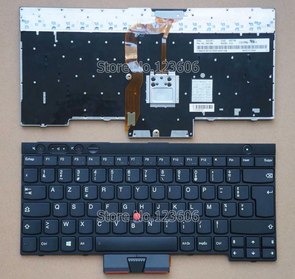 لوحة المفاتيح الجديدة لينوفو ثينك باد ibm كمبيوتر محمول x230 x230i x230t الفرنسية azerty تخطيط fr claiver مؤشر الماوس الإطار الأ.