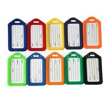 2014 New Fashion 10Pcs Plastic Travel Luggage Tags For Sale/Portable Colorful Luggage Labels With Low Price(China (Mainland))