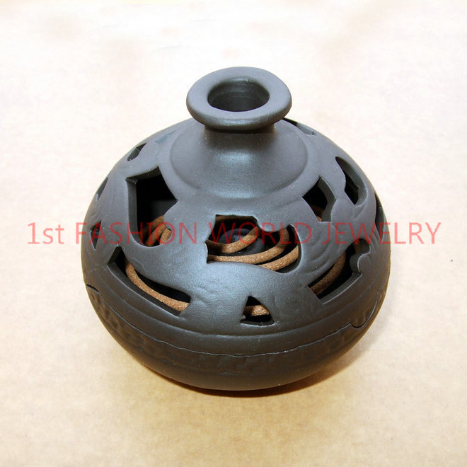 Antique Ceramic Incense Burner Handmade Censer Sandalwood Furnace With a Free Incense Holder Home Decor Free Shipping(China (Mainland))
