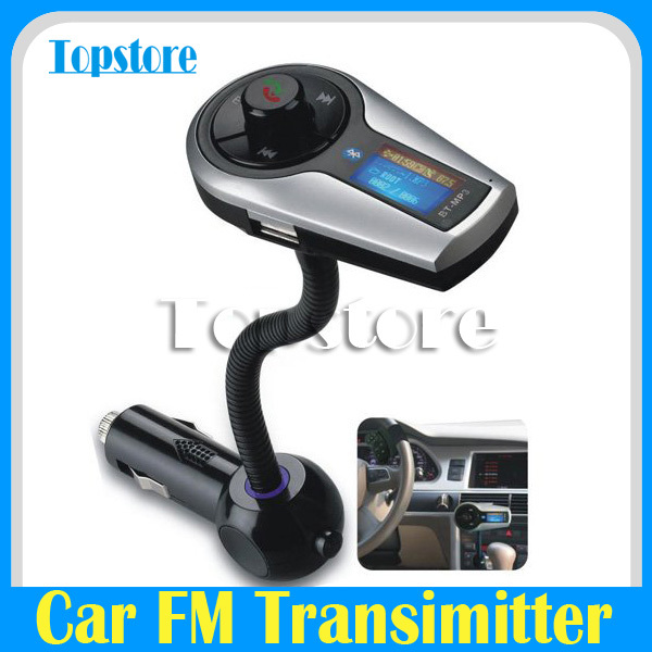 Bluetooth Handsfree Car Kit Fm Transmitter AUX for Iphone 4s 5 Galaxy S3 S4(China (Mainland))