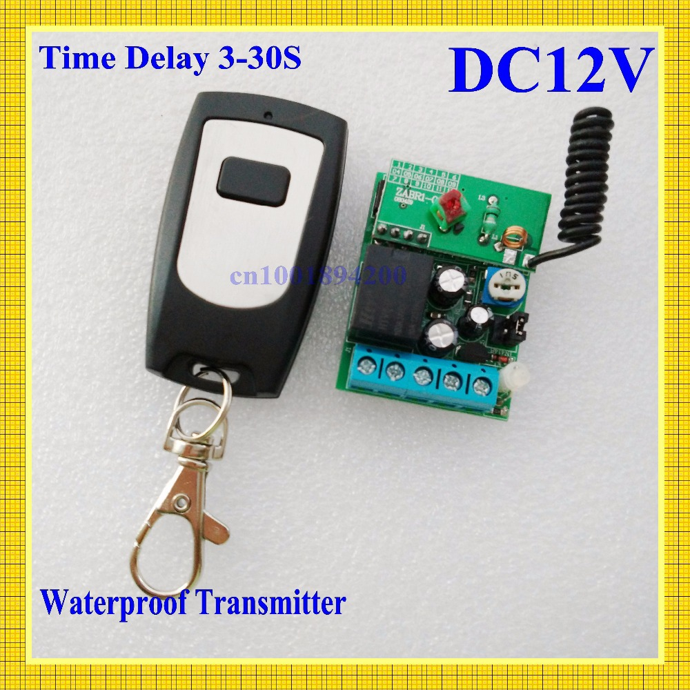 DC12V Door Access/Entery Guard Gateway Electric Control Lock Wireless Control Switch System Momentary Time Delay 3-12S Adjusted(China (Mainland))