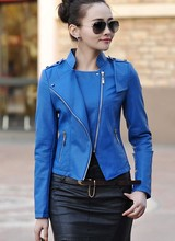 Free shipping women leather jacket 2016 Autumn PU motorcycle jacket women's leather coat women leather jacket plus size 4XL(China (Mainland))