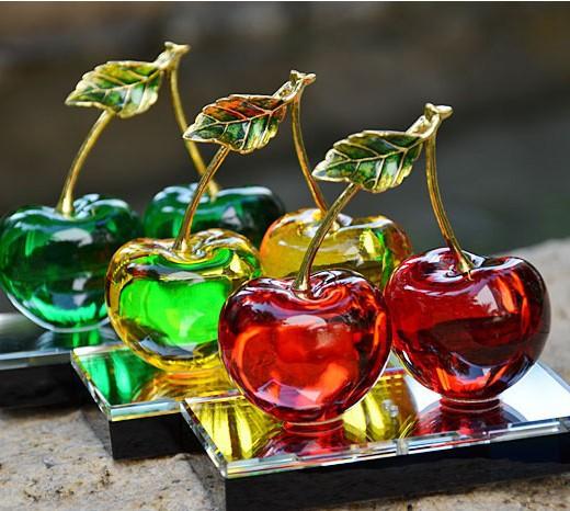 acheter belle rouge cerise cristal voiture bouteille de parfum int rieur. Black Bedroom Furniture Sets. Home Design Ideas