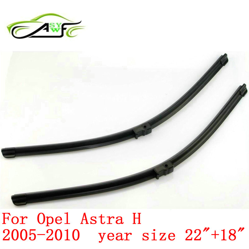 "Free shipping car wiper blades For Opel Astra H, 22""+18"" 2005-2010 Soft Rubber WindShield Wiper Blade 2pcs/PAIR Side pin arm(China (Mainland))"