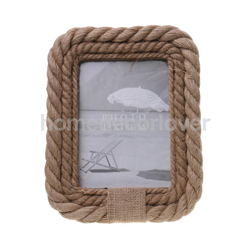 Popular nautical rope decor buy cheap nautical rope decor Rope photo frame