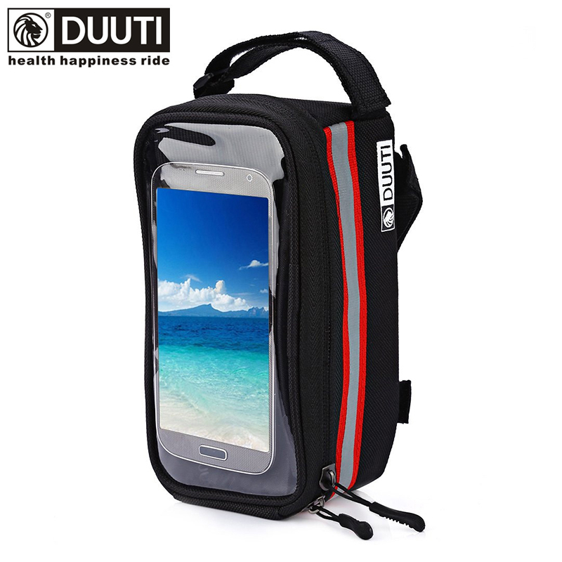 DUUTI Outdoor Cycling Mountain Road Bike Bag Bicycle Frame Tube Panniers Waterproof Touchscreen Phone Case Reflective Bag Basket(China (Mainland))