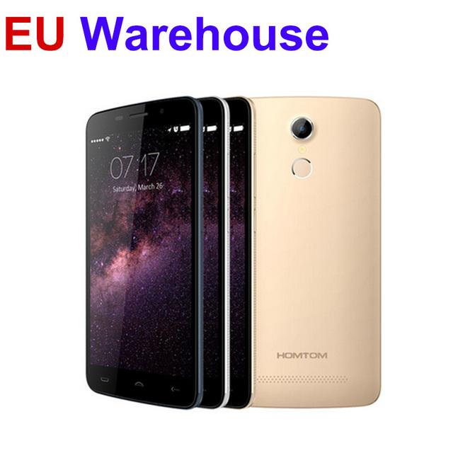 "Оригинал HOMTOM HT17 4 Г LTE Мобильный Сотовый Телефон 5.5 ""IPS MTK6737 Quad Core 1 ГБ RAM 8 ГБ ROM 3000 мАч Android 6.0 OTG отпечатков пальцев"