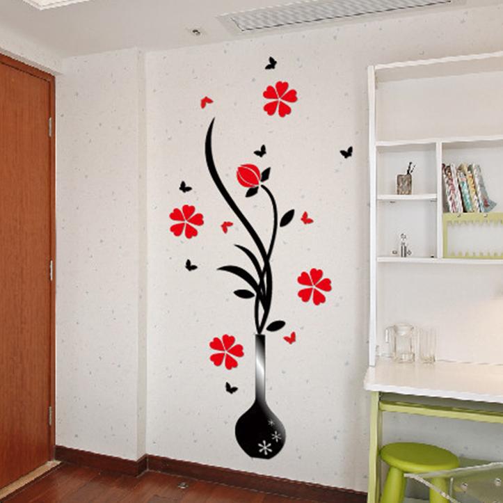 Achetez en gros grand acrylique vase en ligne des for Stickers muraux pour couloir