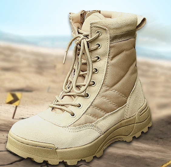 Summer breathable Genuine leather air combat boots male special outdoor tactical desert boots(China (Mainland))
