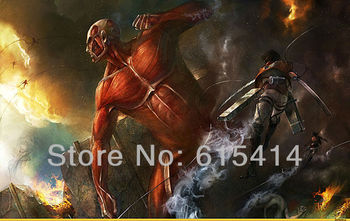 """12 Attack on Titan Japanese Anime 38""""x24"""" inch wall Poster with Tracking Number"""
