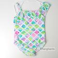 cute baby girl swimwear one piece with little flowers pattern 4 7Y girls swimsuit kid children