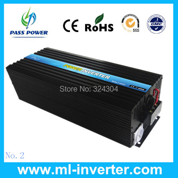 5000W att Off Grid Pure Sine Wave Inverter , DC To AC Solar Inverter 12/24/48vdc to 120/230VAC+ fast delivery + fast speed(China (Mainland))