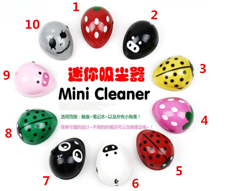 2015 Electric Battery Cartoon Operated Desktop Vacuum Cleaner Sweeper Mini Dust Cleaner Collector For Computer Laptop(China (Mainland))