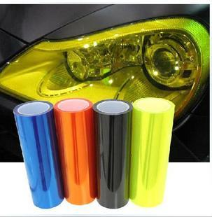 Free shipping Auto 30 x 60cm Yellow Auto Car Sticker Blue Smoke Fog Light HeadLight Taillight Tint Vinyl Film Sheet