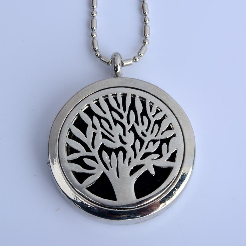 10 pcs/LOT Tree (30mm) Aromatherapy Perfume Diffuser Floating Locket Necklace For Best Gift(China (Mainland))