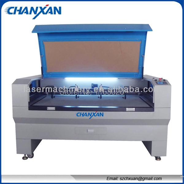 Cheap! CNC full-automatic 4 heads laser cutting&engraving machine 1600x1000mm Skype:szchanxan(China (Mainland))