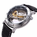 Automatic Self Wind Skeleton watch Hollow out Dial Mechanical Watches man Leather relogio masculino