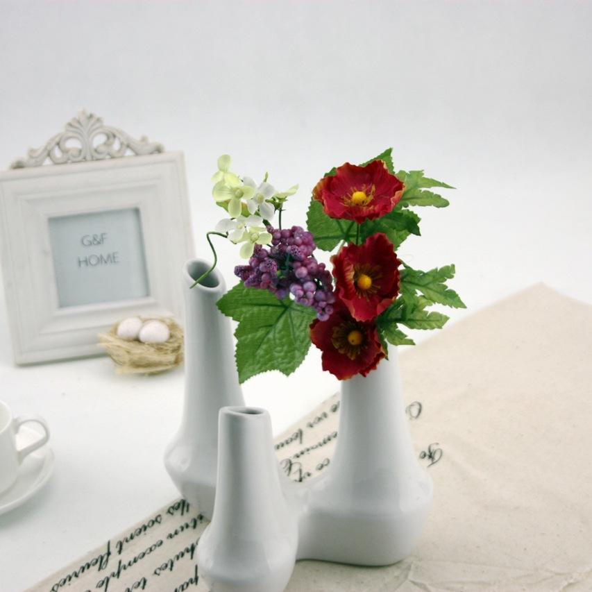 New Design Realistic Light Artificial Apple Flowers Fake Wreaths Arrangement Hotel Wedding Decoration Bridal Bouquets Gift PL(China (Mainland))