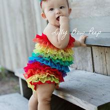 Rainbow Petti Romper,Baby Lace Infant Girls Petti Romper(China (Mainland))