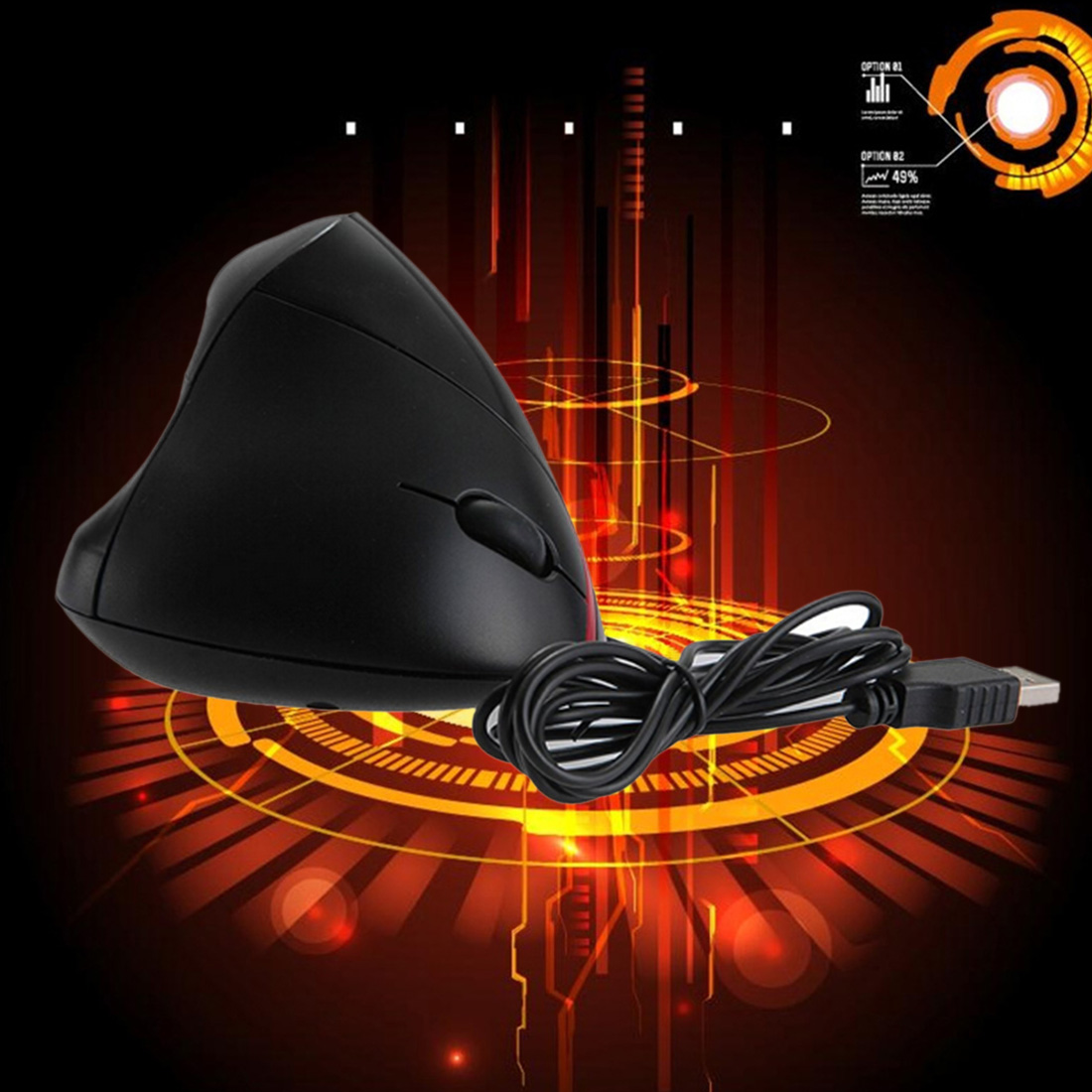 2016 Rechargeable Wireless Vertical Mouse Ergonomic 4 Buttons 2.4G 1000DPI 10M Optical Mice For Laptop Desktop PC(China (Mainland))