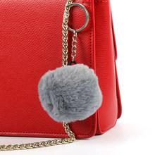 Luxo 7 cm Fofo Chaveiro Bola De Pêlo De COELHO Real Fur Pompom Pom pom Keychain Chaveiro Chaveiro Charme Saco Das Mulheres pingente CHARME BAG(China)