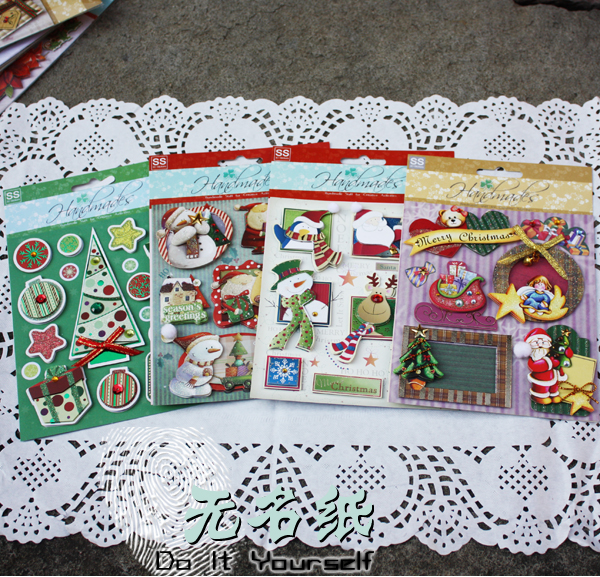 Christmas Craft Stickers Christmas 3d Stickers to Diy