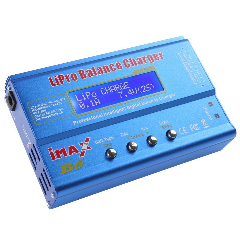Latest IMAX B6 80W LCD Screen Digital RC Lipo NiMH NiCd LiFe A123 Pb Battery Balance Charger / Discharger(China (Mainland))