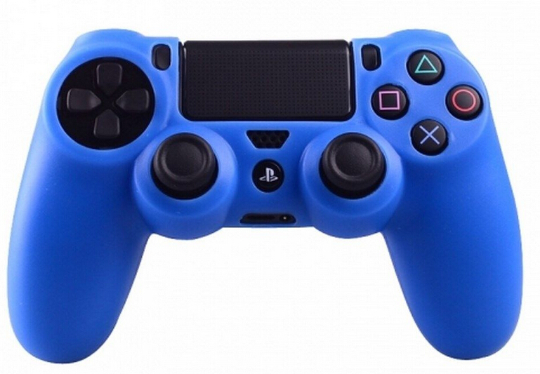 for PS4 Playstation 4 blue color controller silicone rubber protective ...