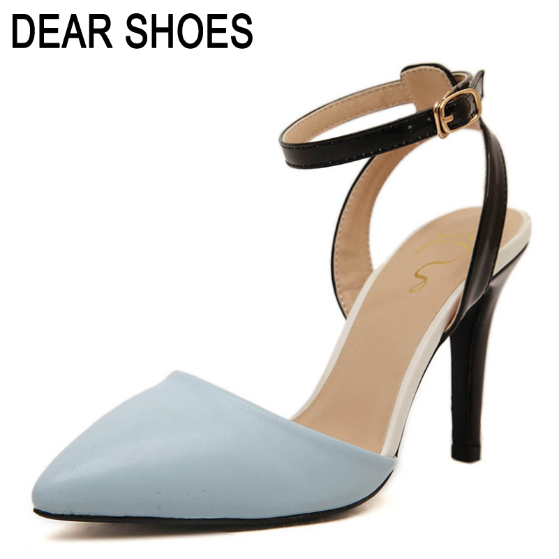 Womens Sandals 2015 Ankle Straps Sandals Summer style Bridal High Heels shoes woman Sapatos Femininos Sandalias QF64