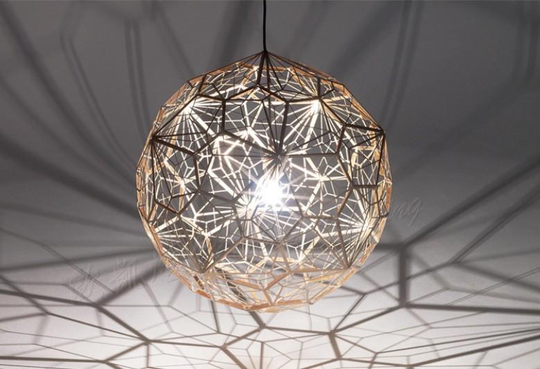 Dia 30/40/50/65cm Modern Lighting Designer Tom Dixon Etch Web Copper Pendant Light E27 Stainless Steel Lampshade Light Fixtures(China (Mainland))
