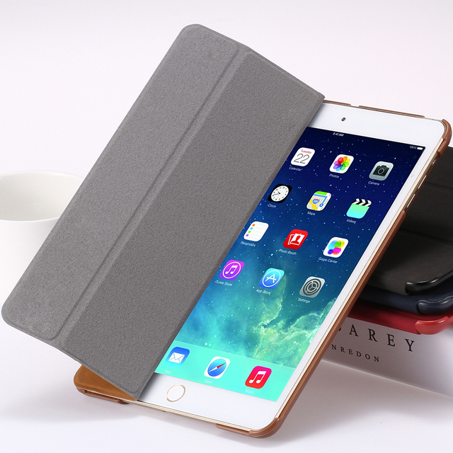 for iPad 2 3 4 Smart Case Luxury Deer Leather Cover for apple ipad2 ipad3 ipad4 Stand Folded Sleep Awake Tablets Bags Casual
