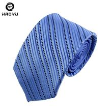 7cm Ties for Men 100% Silk Ties Classic Business Wedding Neckties Hand Made Dot Striped Neck Tie Men Accessories with Gift Box