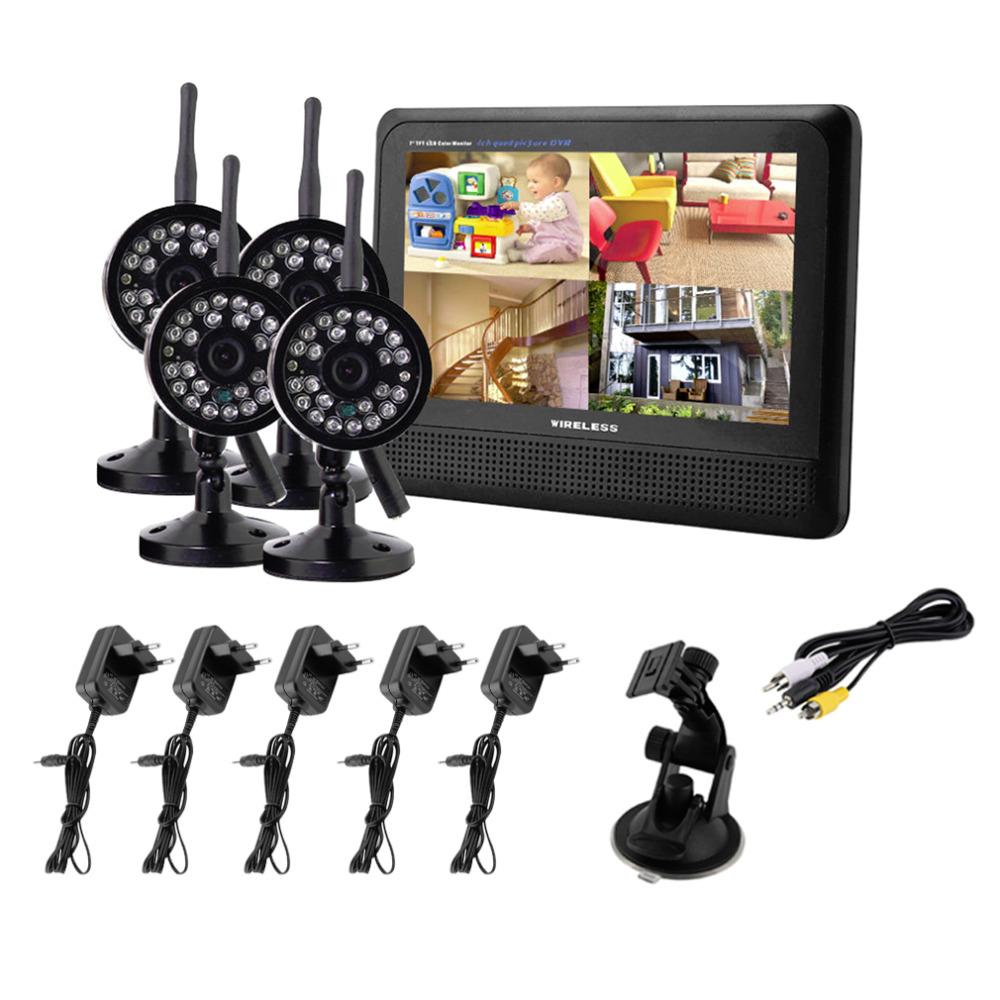 Гаджет  Wireless 4CH Quad DVR4 Cameras with 7