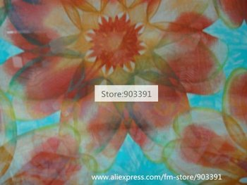 Wholesale Floral Printed Fabric Pure Silk Chiffon Fabric Material F0176