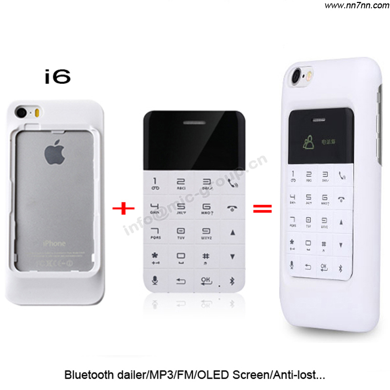2015 Russian Arabic Bluetooth dialer and answer calls Anti-lost MP3 FM OLED screen mini Ultrathin card cell mobile phone P083(China (Mainland))