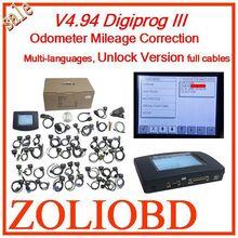 Top sale DHL free v4.94 digiprog iii odometer correction Digiprog 3 mileage correction tool Programmer Full set V4.94 Digiprog3(China (Mainland))