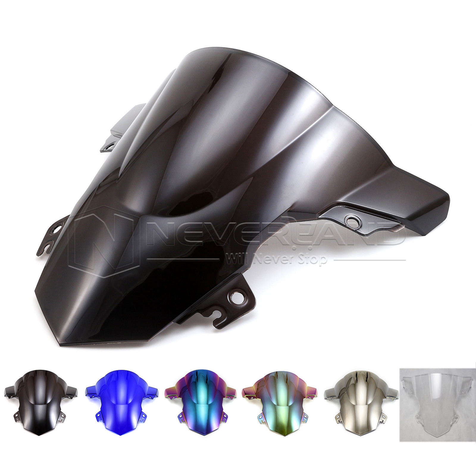 High quality ABS Motorcycle Windscreen Windshield Double Bubble for BMW S1000RR S1000 RR 2015 2016 15 16 D35(China (Mainland))