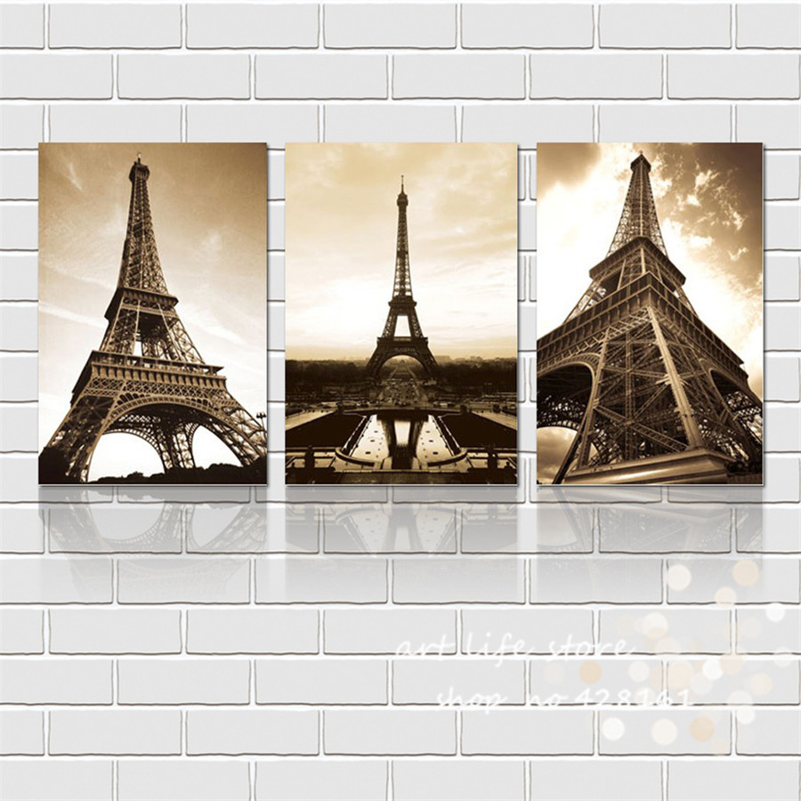 Modern Wall Decor Canvas Painting Home Decorative Art Pictures Fashion Art Europe Style Great Color Tower Hanging On Wall(China (Mainland))