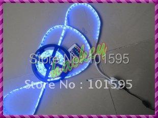 5050 RGB LED Strip Flexible LED Rope Light 300leds/ 5M Non-Waterproof & 24key IR Remote Free