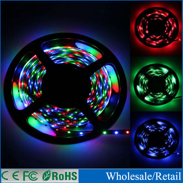 BEST PRICE! 5M LED flexible light 5050 SMD 12V No-waterproof 60LED/m White Warm White Red Green Blue Yellow color Good quality!(China (Mainland))