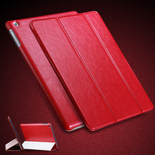 For iPad Air Leather Case 3 Folded Wallet Book Cover For iPad 5 Flip Smart Pouch Bag With Stand Support Full Body Protect Case(China (Mainland))