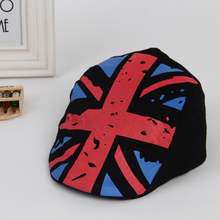 Kids Hat British Flag Beret Children Cap Tartan Design Children Headdress 2-6Y