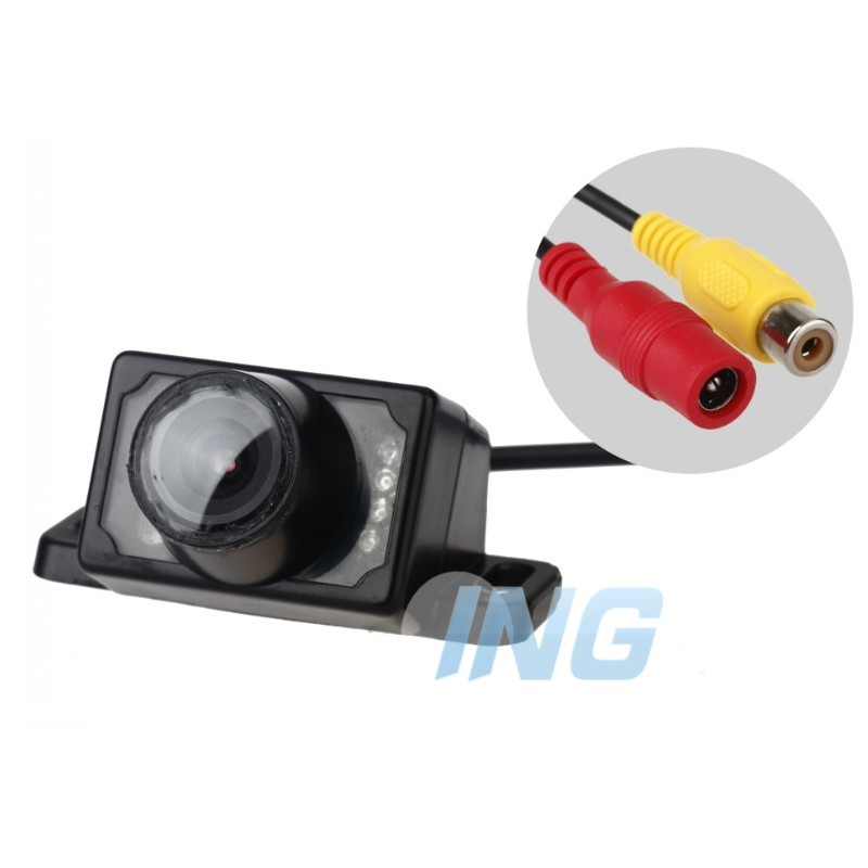 2.4GHZ E220 wireless 8LED Night Vision Waterproof Auto Car Rearview Camera for Security Backup Parking For DVD(Free Shipping)(China (Mainland))