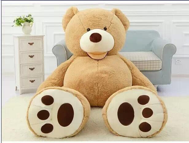 93'' Costco Giant Big Teddy Bear Plush Stuffed Bear Brown Huge Teddy Bear 5 Floot Stuffed Toys Best Gift For Women And Child(China (Mainland))
