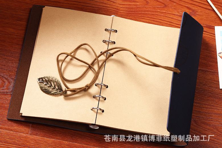 High-end custom loose-leaf leather leaves retro notepad notebook/gift/office/diary/school(China (Mainland))