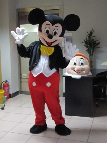 /Hot Minnie Mascot Costumes and Minion mascot costume Adult size Cartoon thanks Halloween Carnival Costume(China (Mainland))