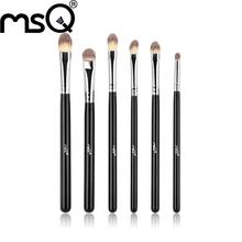 MSQ 6pcs professional  Cosmetic makeup brush set free shipping  eyes hadow makeup brushes full function cosmetic eye make up