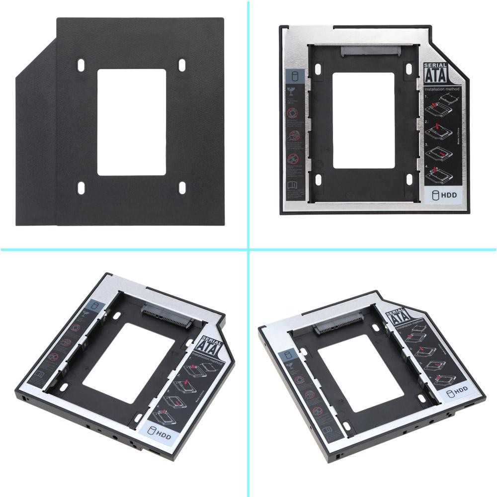 "Universal 9.5mm 2nd Hard Disk Drive Caddy Tool Free SATA 2.5"" HDD SSD Case Enclosure hard disk Box for Laptop Desktop CD/DVD-ROM(China (Mainland))"