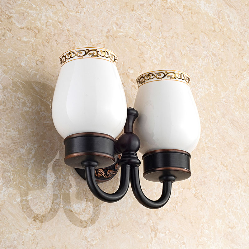 Brand Bathroom Hardware Copper Bath Hardware Sets Retro Toothbrash Cup Holder Copo Cup Holder Porta Escova Dente Antique(China (Mainland))